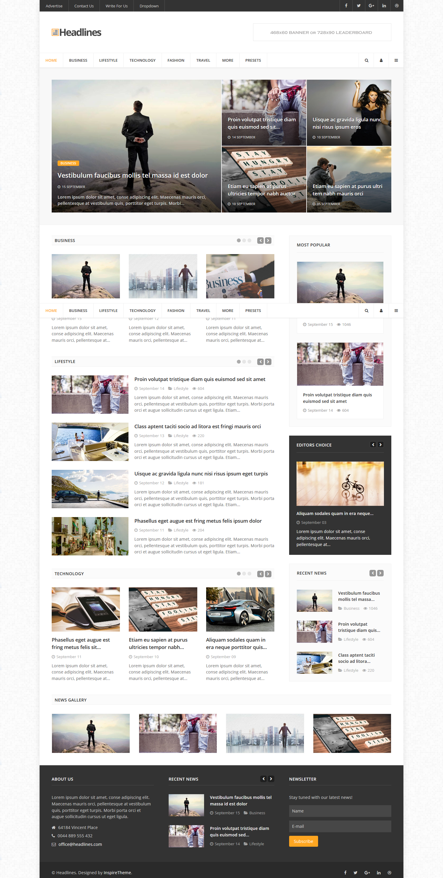Website Demo © InspireTheme